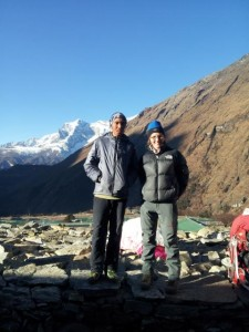 Natalia Irving with a local Sherpa who has summited Everest 8 times and had 15 attempts.