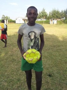 A soccer ball I brought for the children.  It was played with so much its lifespan was 4 days.