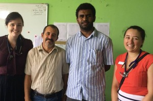 Jess, Dr Jorge, Dr Albert and myself. Dr Jorge is a consultant paediatrician and Dr Albert is a paediatric intern