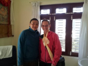 Natalie Irving with the Tibetan Medicine Doctor.