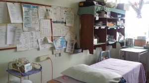 Treatment room on the Paed's ward. Signposted as the Emergency Room but mostly used to take bloods.